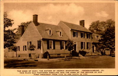 Postcard Home of Mary Mother of George Washington Fredericksburg Virginia