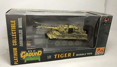 1/72  Easy Model 36213 German  Tiger I Middle Type painted Assembled weathered