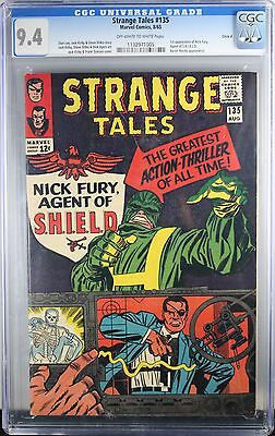 Strange Tales #135 Cgc 9.4 1St Nick Fury Agent Of Shield 1965