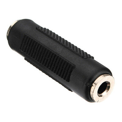Stereo 3.5mm 1.5' Aux Female to Female Jack Audio Coupler Adapter Connector .