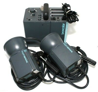 Broncolor Primo Power Pack w/ (2) CH-4123 Strobe Heads  26491