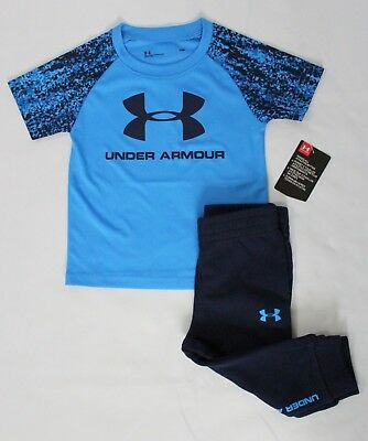 2-Pc Under Armour Baby Boys 12M/18M/24M Digital City Jogger Set Blue Pants Shirt