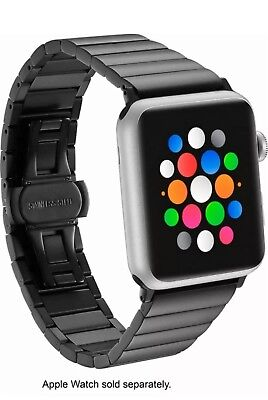Platinum Link Stainless Steel Band for Apple Watch 42mm - Black