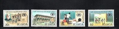 St Lucia 1990 Centenary of St Mary's College SG 1049/52 MUH