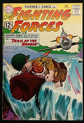 Our Fighting Forces #66 1962 Sharp Fn Minus Glossy  Gunner+Sarge 3 Great Stories