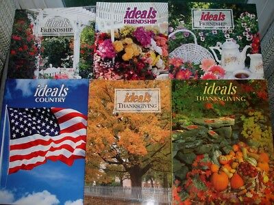 Lot of (6) Vintage Issues Ideals Magazines Friendship Country Thanksgiving