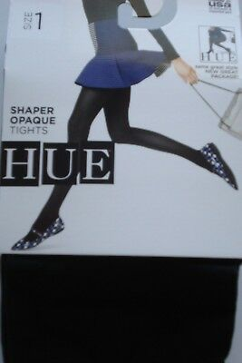 3222c9a1e HUE OPAQUE TIGHTS Black Size 2 New Great Tights -  5.75