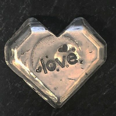 "3 Troy Oz  MK BARZ  .999 Fine ""LOVE"" DIAMOND SHAPE HEART SILVER BAR"