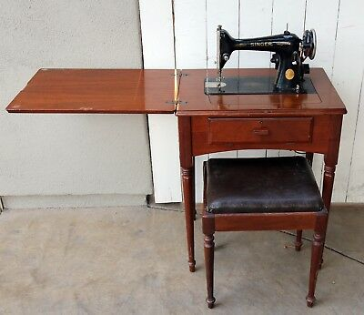 40 SINGER SEWING Machine Model 4040 With Cabinet And Bench Simple Singer Sewing Machine Model 66 18