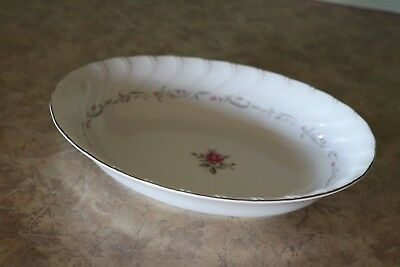"Fine China of Japan ROYAL SWIRL MSI 10 3/8"" Oval Serving / Vegetable Bowl"