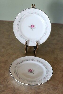 "Fine China of Japan ROYAL SWIRL MSI 6 3/8"" Bread & Butter Plates (2)"