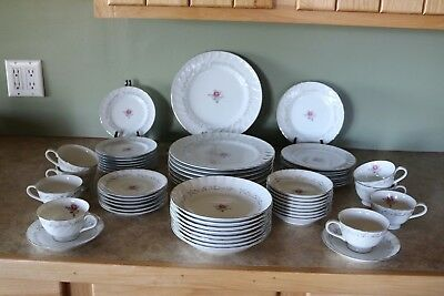 Fine China of Japan ROYAL SWIRL MSI 7 pc plc set - Serv for 8 - 56 pieces