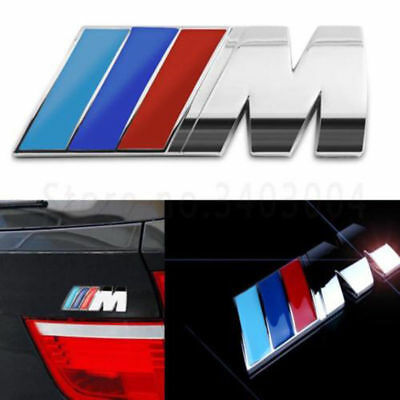 Metal 3D Stickers emblem Decals M ///M badge logo for Car BMW Styling 8.4*3.2 cm