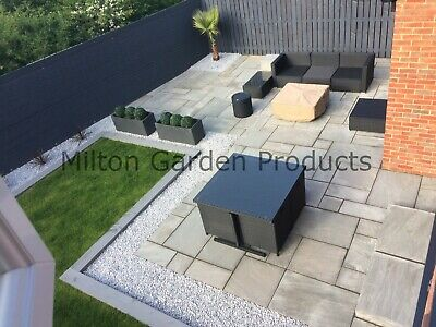 Kandla Grey Mixed Size 1m2 Indian Sandstone Natural Paving Silver Garden Stoke