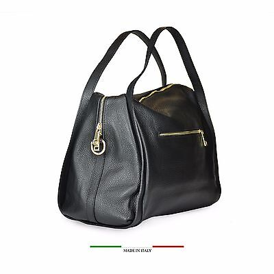 4d4a4b840d borsa donna in vera pelle made in italy nuova bag morbida tracolla manici