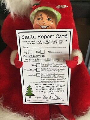 Santa Report Card Pack - Nice List Certificate - Christmas Elf Accessories