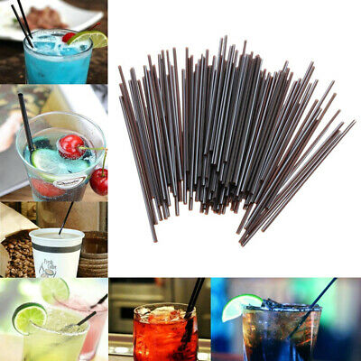 100pz CANNUCCE NERE RIGIDE 13 CM cocktail bevande aperitivi party festa monouso
