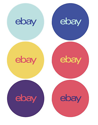 eBay Branded Variety Sticker Multi Pack 100 Round 6 Color 3 x 3 Packaging Sale