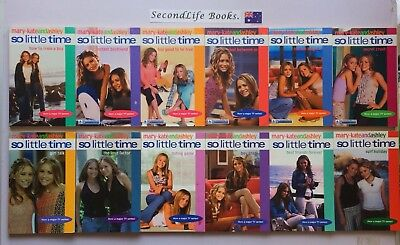 x12 MARY-KATE & ASHLEY ~ SO LITTLE TIME BOOKS #1-9, 11, 12, &16.