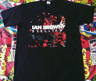*THE STONE ROSES* Ian Brown Signed T-Shirt with COA