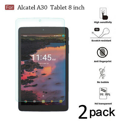 [2-Pack] Tempered Glass Film Screen Protector For Alcatel A30 Tablet 8 inch