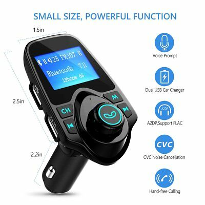 Wireless Bluetooth Car Kit Auto Radio KFZ Adapter FM Transmitter Mp3 Player USB