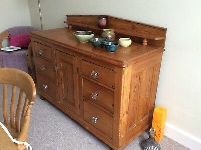 Antique Pine Sideboard, lovely condition 140x 56.6x 90