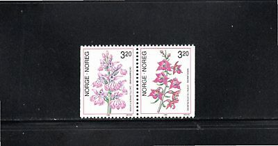 Norway 1990 Orchids (1st series) SG 1072/3 MUH
