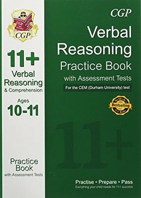 11+ Verbal Reasoning Practice Book with Assessment Tests (Age by CGP Books New