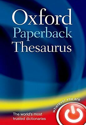 Oxford Paperback Thesaurus by Oxford Dictionaries New Paperback Book