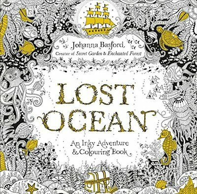 Lost Ocean: An Inky Adventure & Colouring  by Johanna Basford New Paperback Book