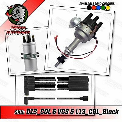 Ford Cologne V6 Electronic Distributor with Viper Coil and Black Leads
