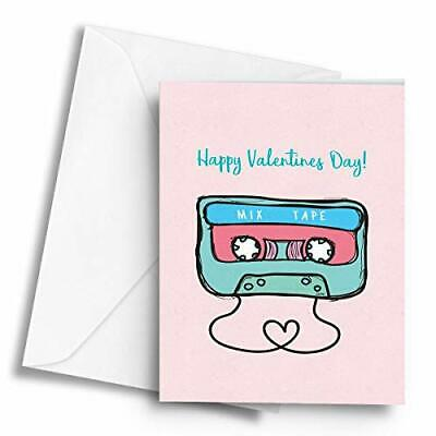 Happy Valentines Day! Mix Tape - A5 Greetings Card