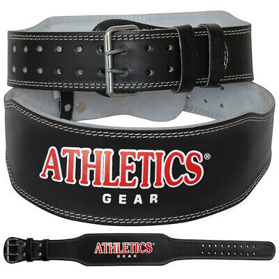 "Weight Lifting 4"" Leather Belt Back Support Strap Gym Fitness Training Kombat"