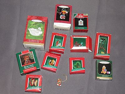 * Lot of 12 Vintage Hallmark Keepsake Milenium Baby Christmas Ornaments*