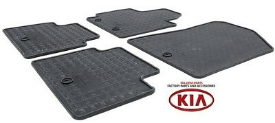 Genuine Kia Soul All Weather Floor Mats Full Rubber Set Factory OEM B2F13-AC000