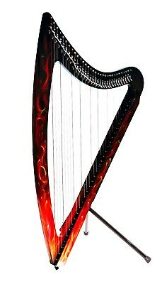 Camac DHC Blue Light 32 string Electro Harp in True Fire + Camac Padded Bag