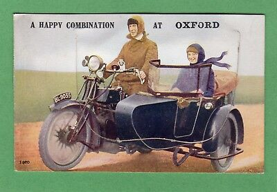 Oxford Motorcycle & Sidecar Novelty Pull Out pc unused Valentines Ref G23