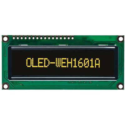 Winstar WEH001601A 16x1 OLED Display, Yellow