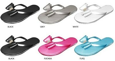 Wholesale Lot New 36 prs  Girl's Thong Sandal with Bow & Rhinestones