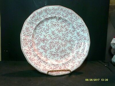 Antique W.ridgway Ninon Pearlware Maroon Transfer Decorated Plate C.1830-54