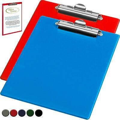 A4 Clip board or Folders Solid Office Document Holder Filing Paper Note Hard UK