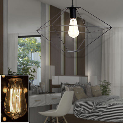 Country House Style LED Dinner Room Ceiling Hanging Lamp Metal Pendulum