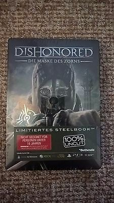 Dishonored Steelbook Steelcase G1 PS3 Xbox 360 MINT NEW -- NO GAME