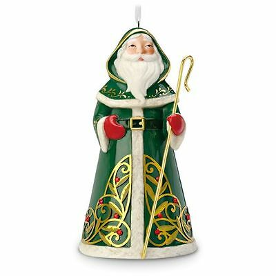 2016 Hallmark FESTIVE SANTA Porcelain PREMIUM dated ORNAMENT