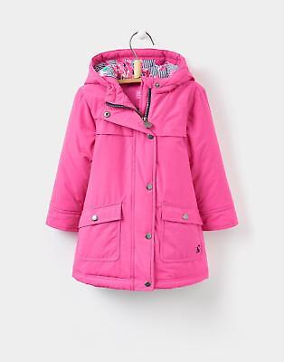 Joules Girls Parker Parka-Style Coat Size 1 6 Years in Bright Pink