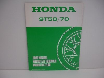 Supplément au manuel Atelier Honda ST50/70 DAX 1990 Francais Deutsch English