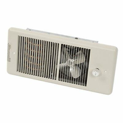 TPI HF4315TRP Series 4300 Low Profile Fan Forced Wall Heater with 1 Pole Ivory,