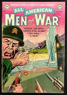 All-American Men Of War #7 Bright Vg/fn Nice Colan,novick   4 Great Stories!