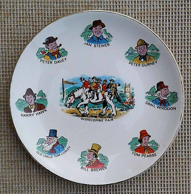 """6.75"""" Lord Nelson Pottery Plate - Widecombe Fair."""